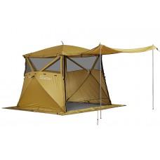 Кухня-шатер HIGASHI Pyramid Camp Olive (230х230х200)