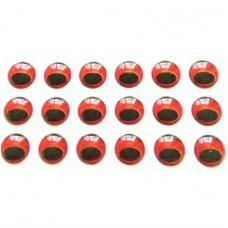 3D глаз под Megabass, красный, 6 мм