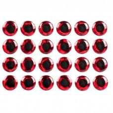 3D глаз красный, 3 мм