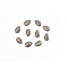 Микро лепесток, чешуя Silver 13×6 мм