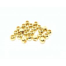 Шар латунный 4 мм, золотой